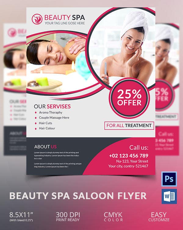 Beauty Spa Saloon Flyer