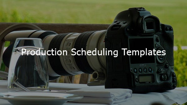 production scheduling templates
