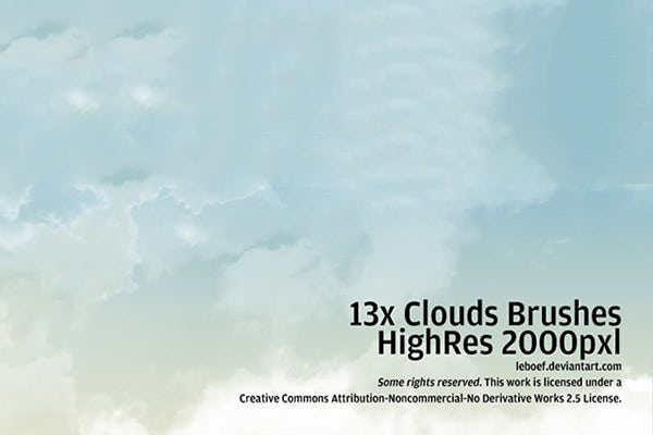 13 cloud brushes