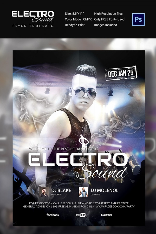 Electronic Sound Concert Party Flyer