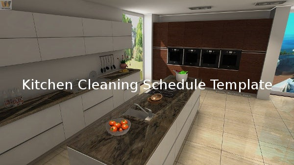 kitchen cleaning template