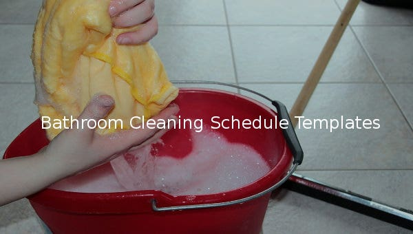 bathroomcleaningscheduletemplate