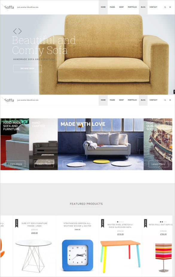 soffa furniture responsive wp theme