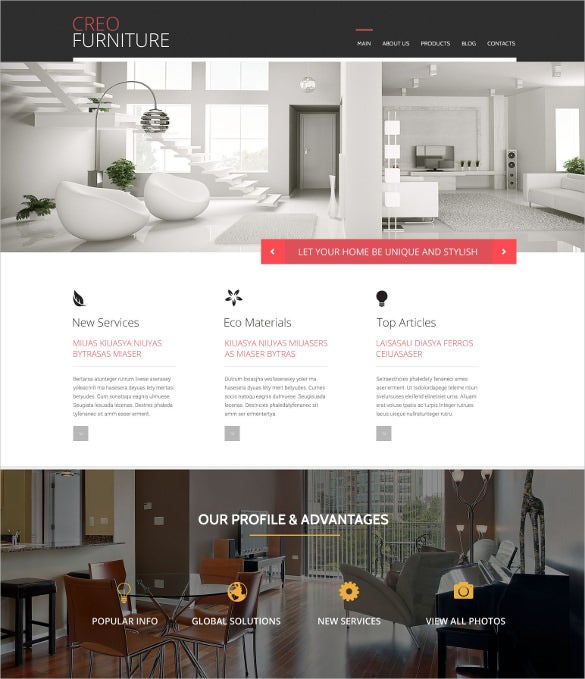 furniture responsive wordpress theme1