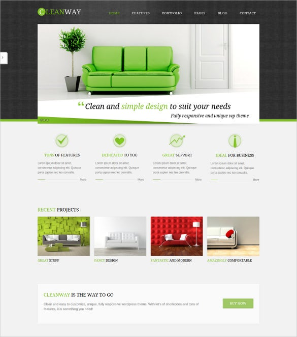 modern furniture wordpress theme