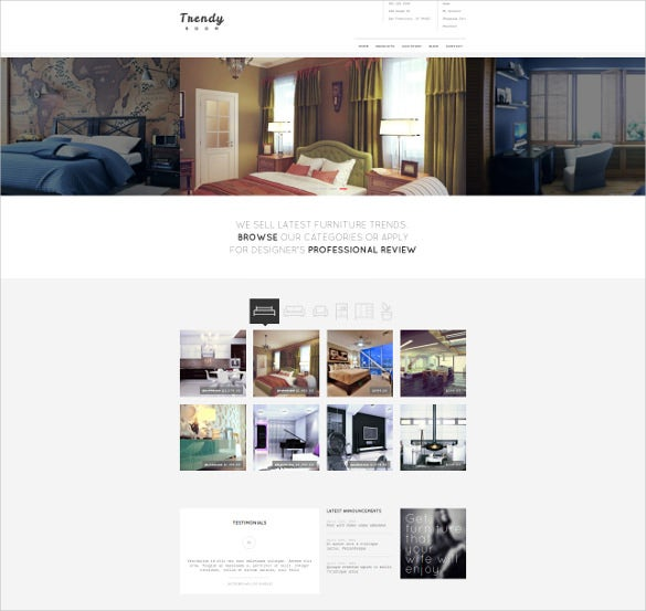 room furniture e commerce wordpress theme
