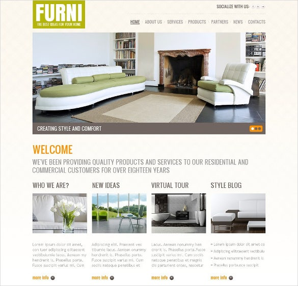 trendy furniture wordpress templat