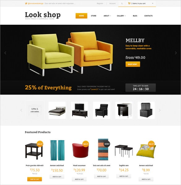 furniture wordpress ecommerce theme