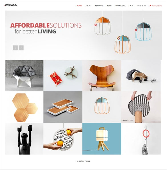 interior furniture portfolio wp theme