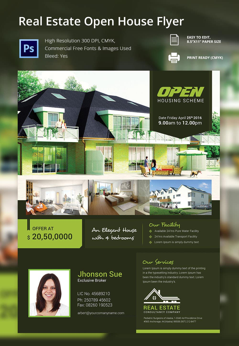 real estate brochures templates - open house flyer template 30 free psd format download