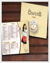 Charlotta Cafe Menu Template