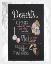 Custom Dessert Menu Template Download