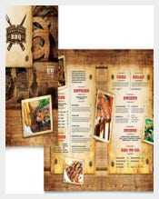 Steakhouse BBQ Bakery Menu Template