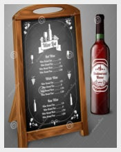 Wine Menu Template on Chalkboard
