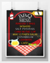 Custom BBQ Menu Chalkboard Sign Template