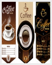 Three Coffee Menu Design Template