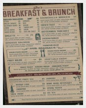 Breakfast & Brunch Menu Template
