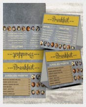 Rustic Breakfast Menu Template Download