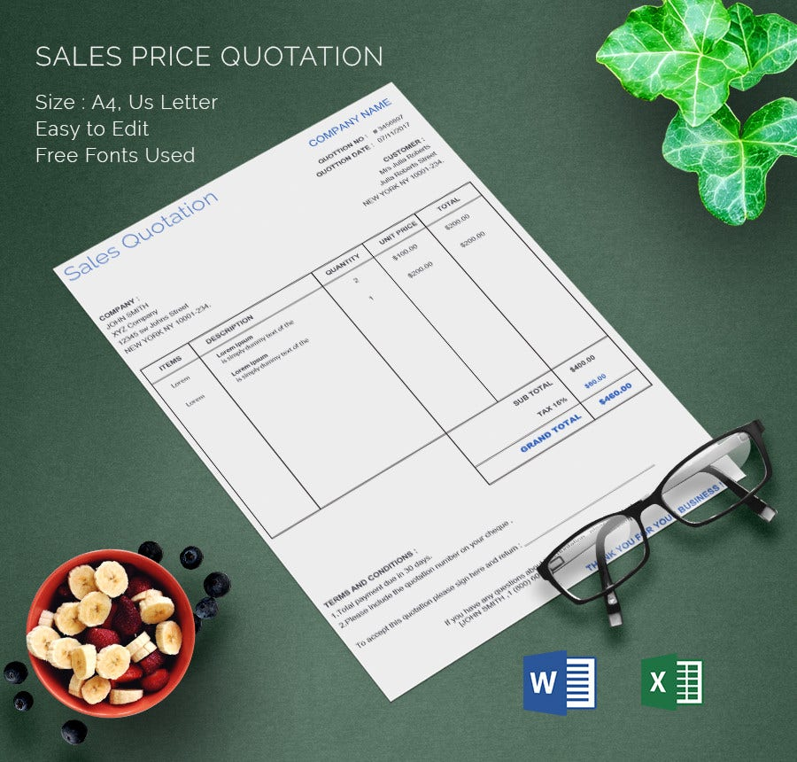 Get Price Quote My Car: 15+ Free Word, Excel, PDF