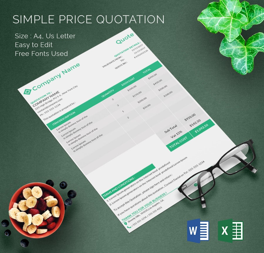 Price Quotation Template