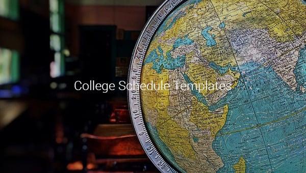 college schedule templates