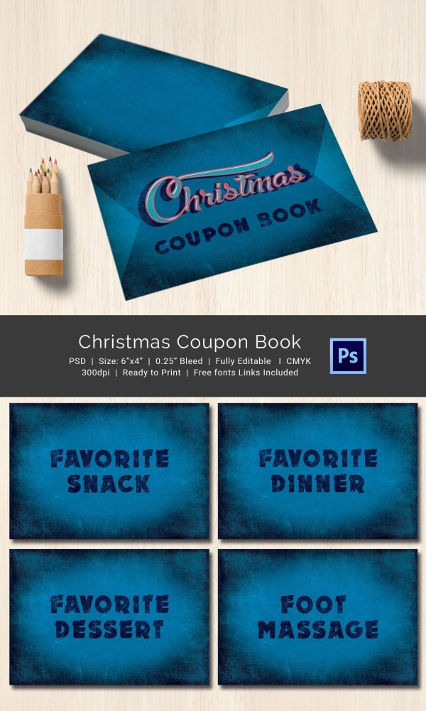 Christmas Coupon Book Template Easy Download
