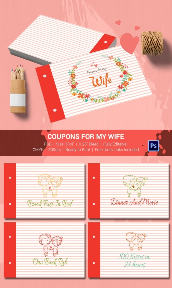 Coupons Book for Loving Wife