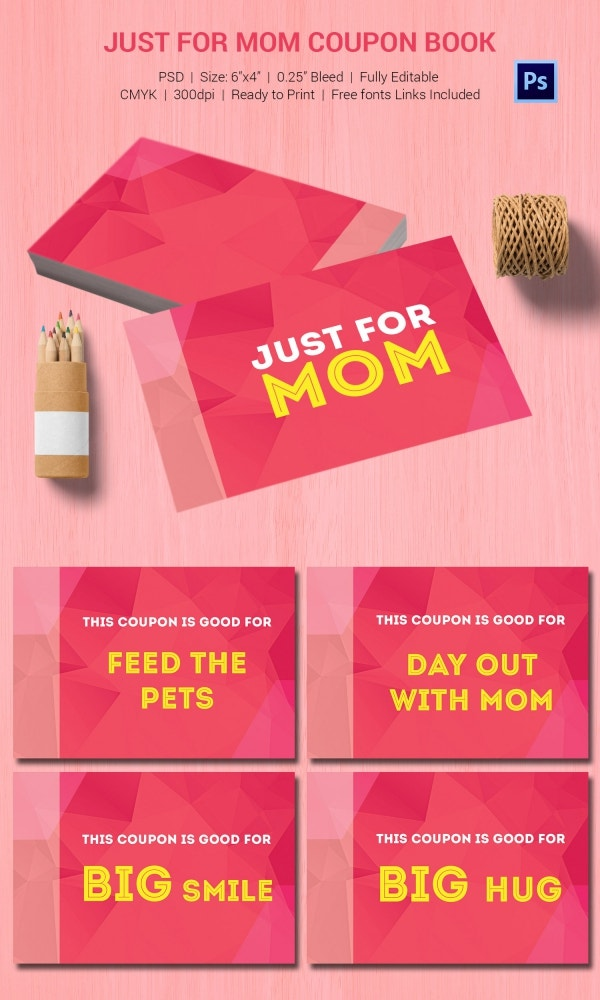 Just For Mom Coupon Book