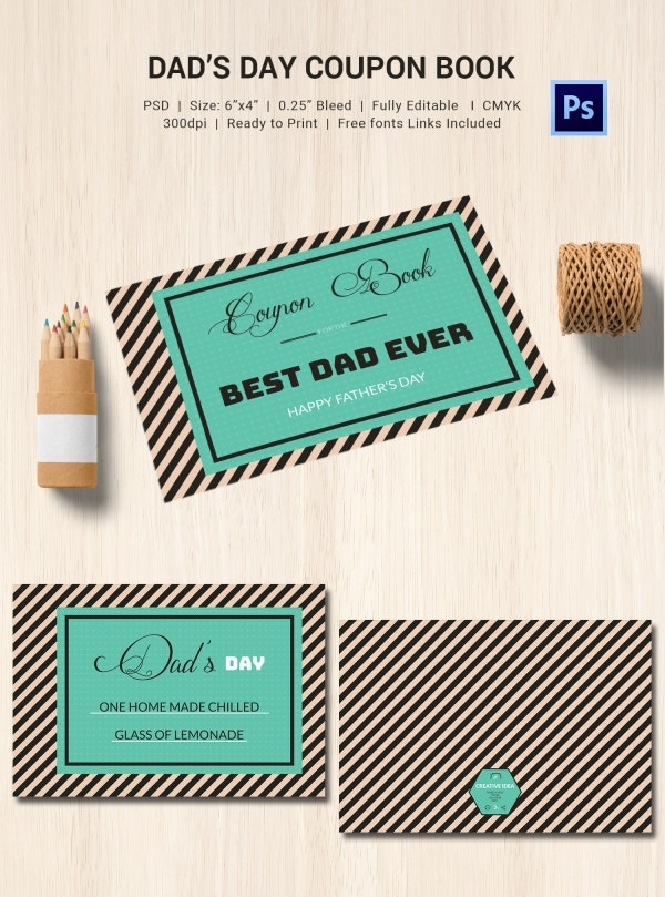 Just For Dad Coupon Book