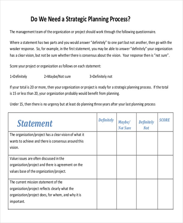 Strategic Plan Template Free Year It Strategic Plan Template It