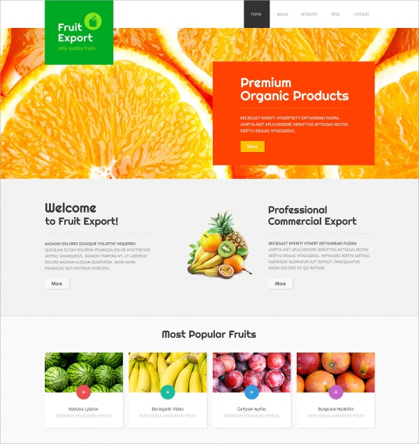 Fruit Diet & Nutrition Joomla Template $75