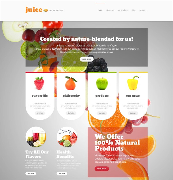 Healthy Diet & Nutrition Joomla Template $75