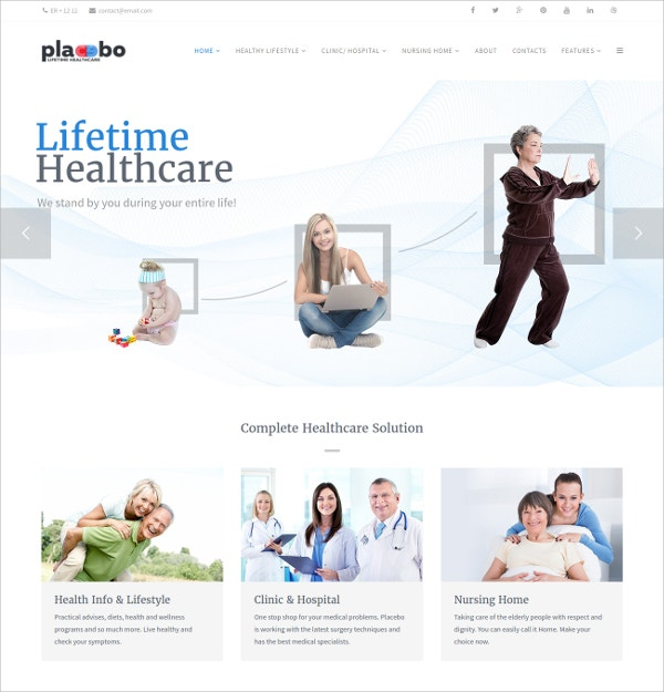 Medical, Hospital & Nursing Diet Joomla Theme $48
