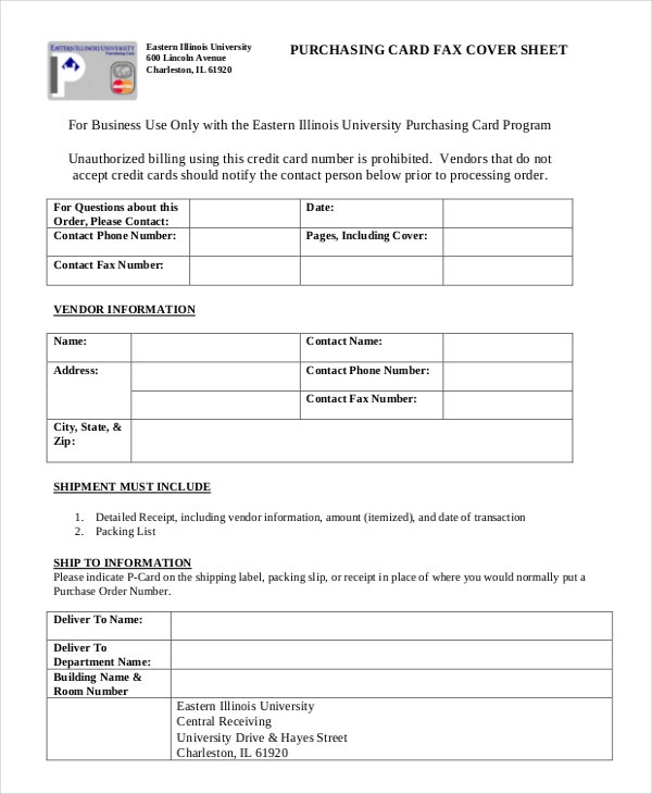 business fax sheet template