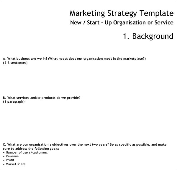 Marketing Strategy Template