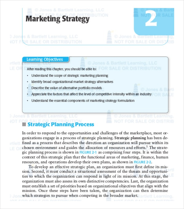 Marketing Strategy Plan Template   Word Pdf Documents Download
