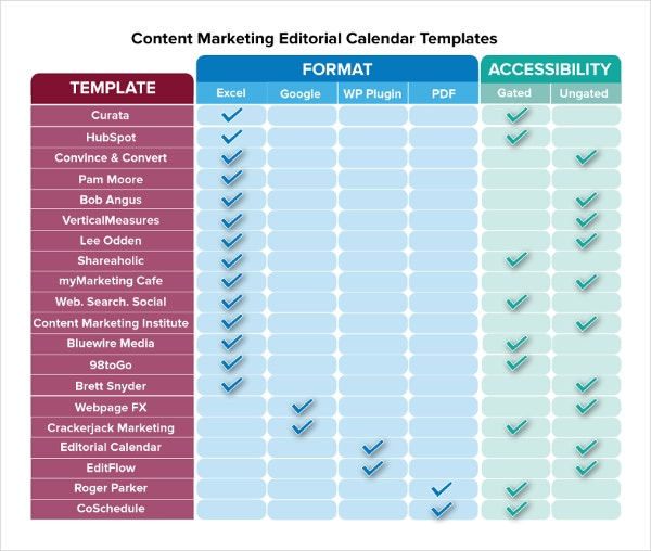 Marketing Calendar Template - 3 Free Excel Documents Download | Free ...