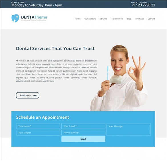 premium medical dentists wordpress theme1