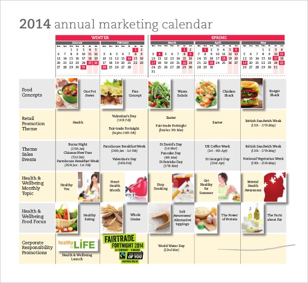 Marketing Calendar Template Free Excel Documents Download Free - Promotional calendar template