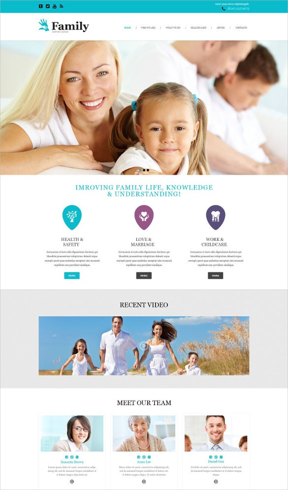 family muse static template