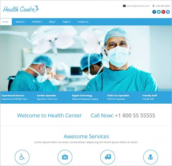 medical healthcentre wordpress template1