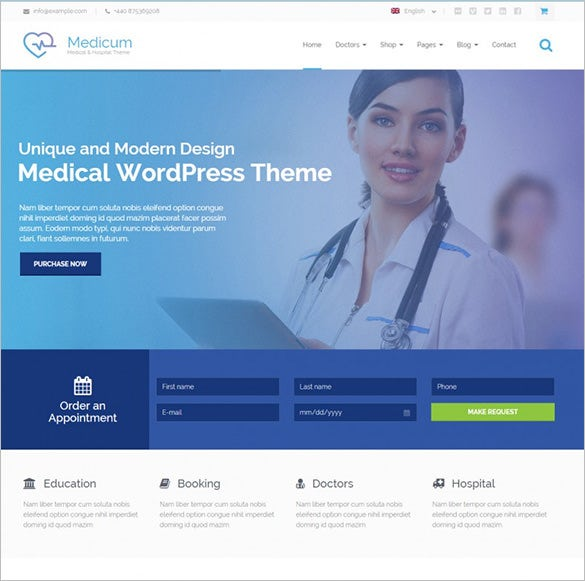 medicum health medical wordpress template1
