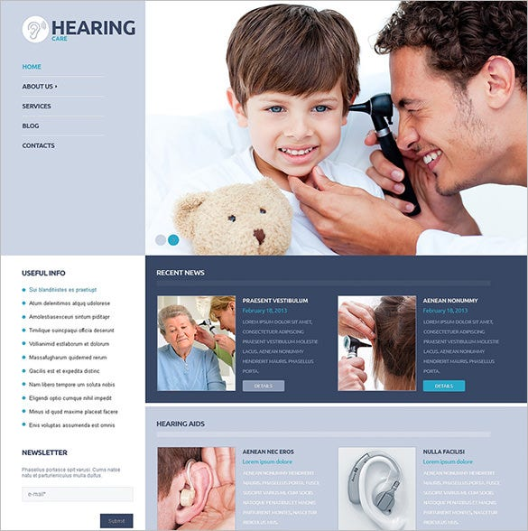medical responsive wordpress template download