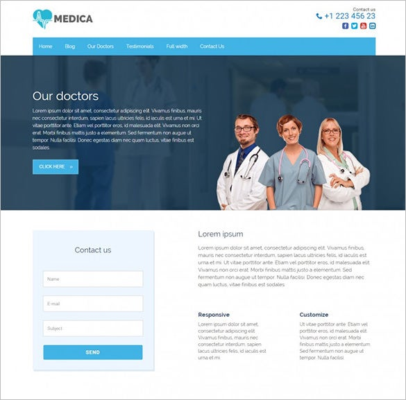 medica pro health wordpress theme1