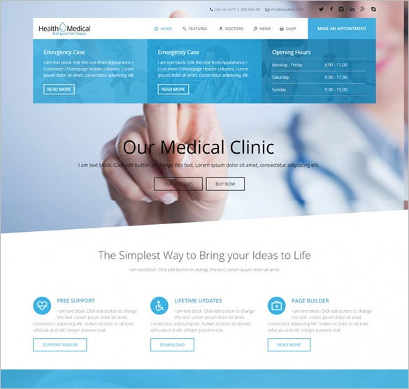 health medical wordpress theme for medicine1
