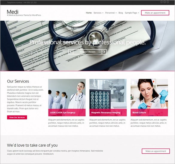 premium medical responsive wordpress theme1
