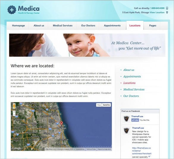 medical wordpress template1