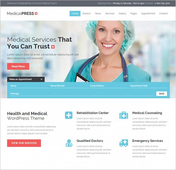 medical press wordpress theme1