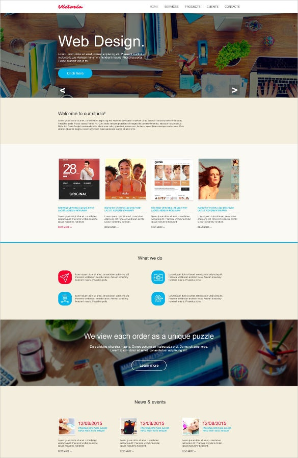 static design website template