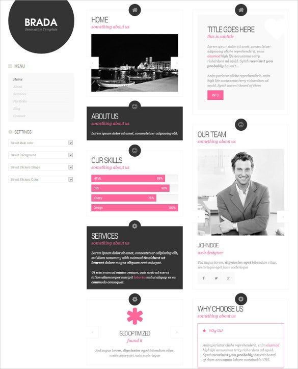 bootstrap static website template